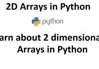 2 dimensional arrays in python