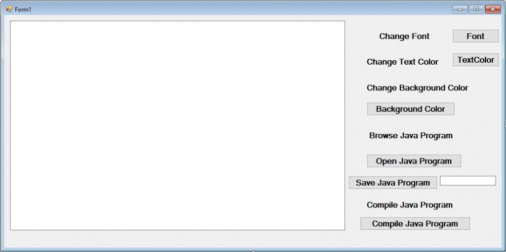 Java IDE in C#