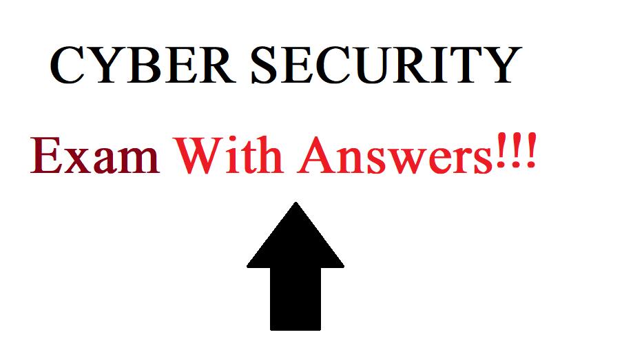 cybersecurity exam