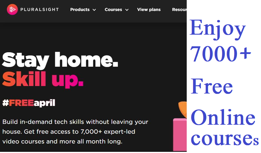 Pluralsight Free Online Courses
