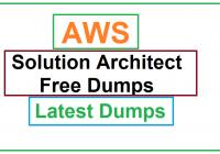 AWS Solution Architect dumps